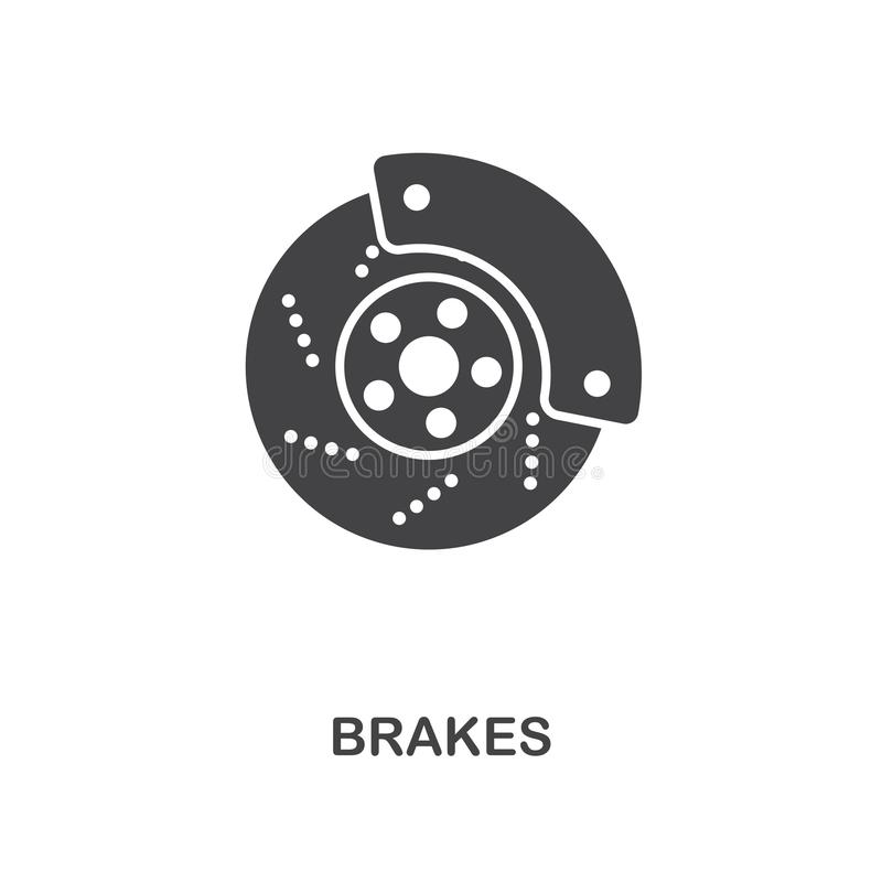 Brakes creative icon. Simple element illustration. Brakes concept symbol design from car parts collection. Can be used for web, mo royalty free illustration