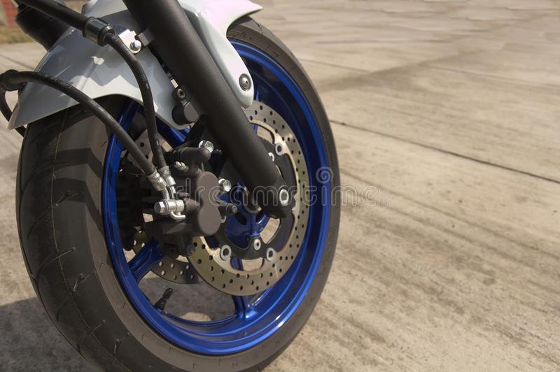 Download Brakes on motorcycle stock photo. Image of motorbike - 40080192