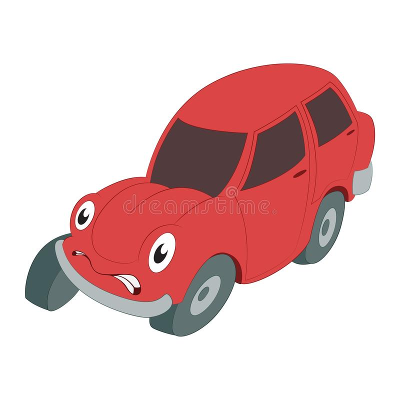 Braking car royalty free illustration