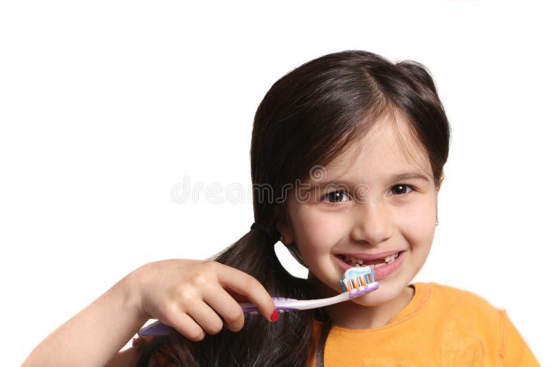 Brakować dwa frontowego zębu zdjęcia stock