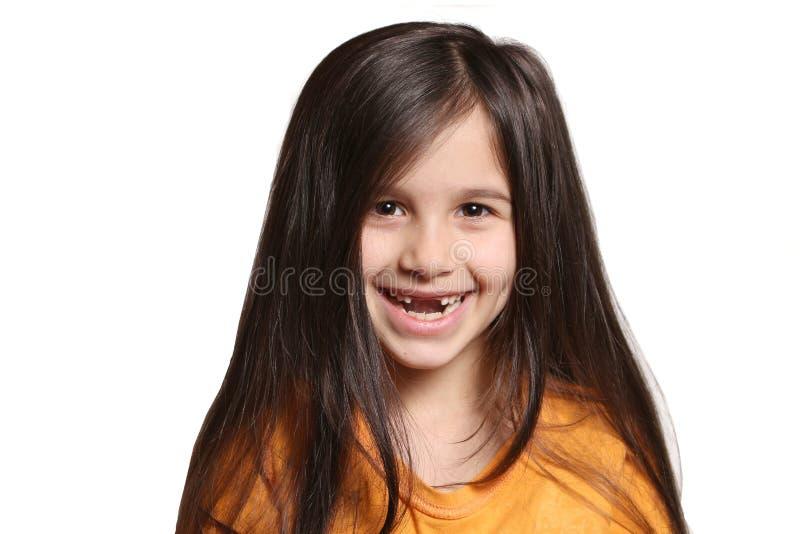 Brakować dwa frontowego zębu zdjęcie stock