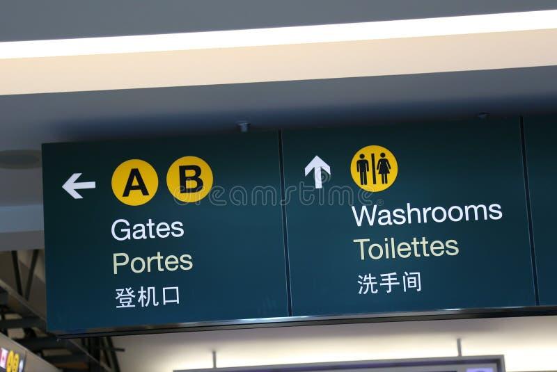 Bram i washrooms znak obrazy stock