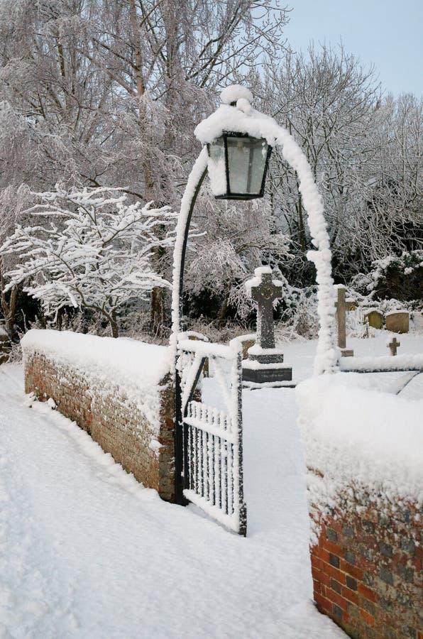 brama śnieg fotografia royalty free