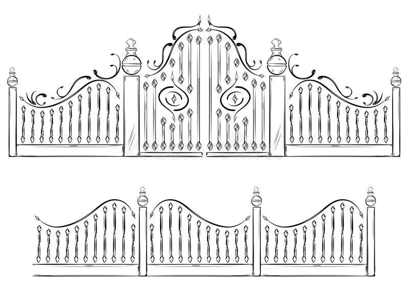 brama royalty ilustracja