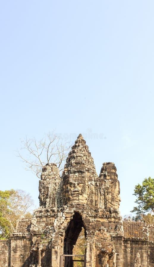 Brama Angkor Thom, Siem Przeprowadza żniwa, Kambodża zdjęcia stock
