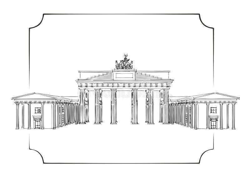 brama brandenburgii royalty ilustracja