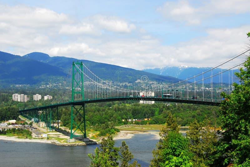 brama bridżowi lwy Vancouver zdjęcia stock