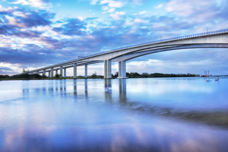 Brama Bridżowy Motorway zdjęcia stock