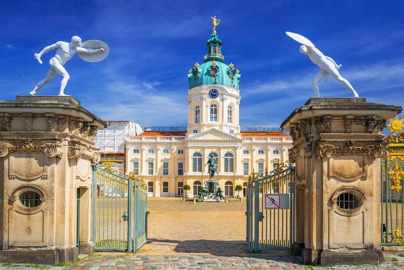 Brama Charlottenburg pałac w Berlin, Niemcy fotografia royalty free