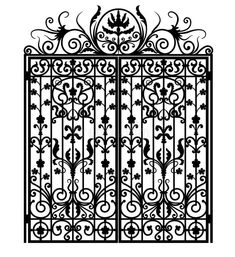 brama czarny metal royalty ilustracja