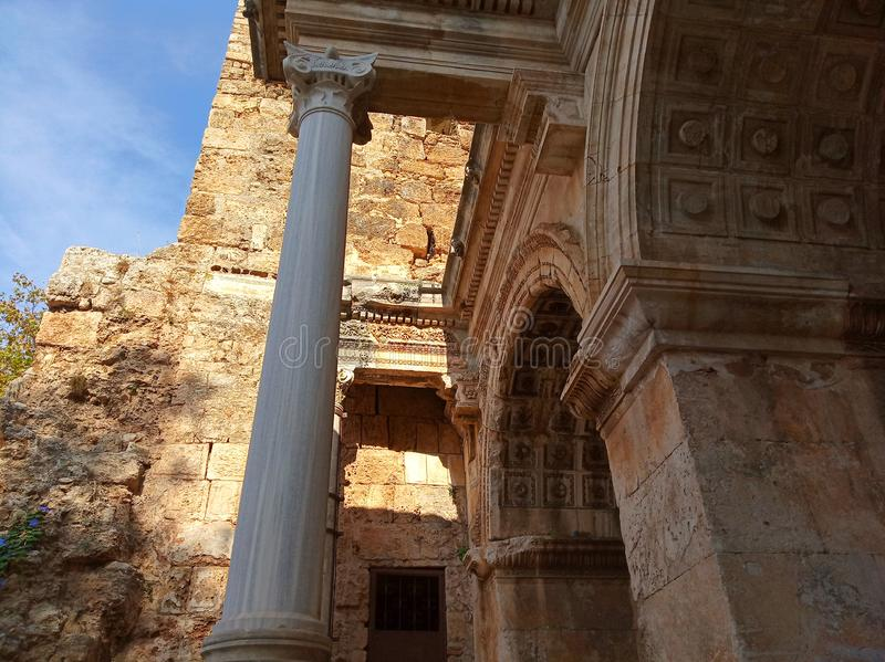 Brama Hadrian, Turcja zdjęcie royalty free