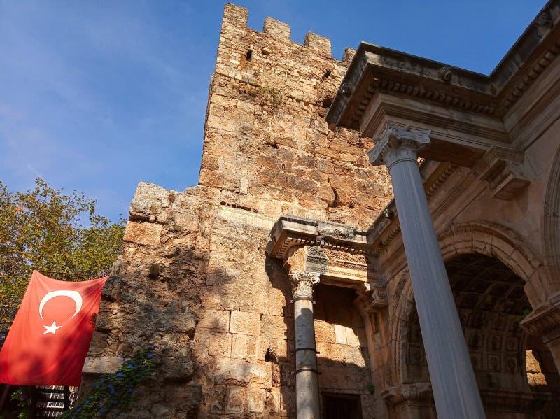 Brama Hadrian, Turcja fotografia stock