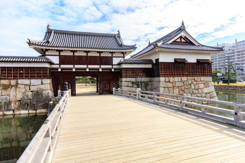 Brama Hiroszima kasztel w Hiroszima prefekturze, Chugoku region obrazy royalty free
