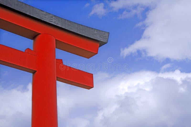 brama japończyków do świątyni obraz royalty free