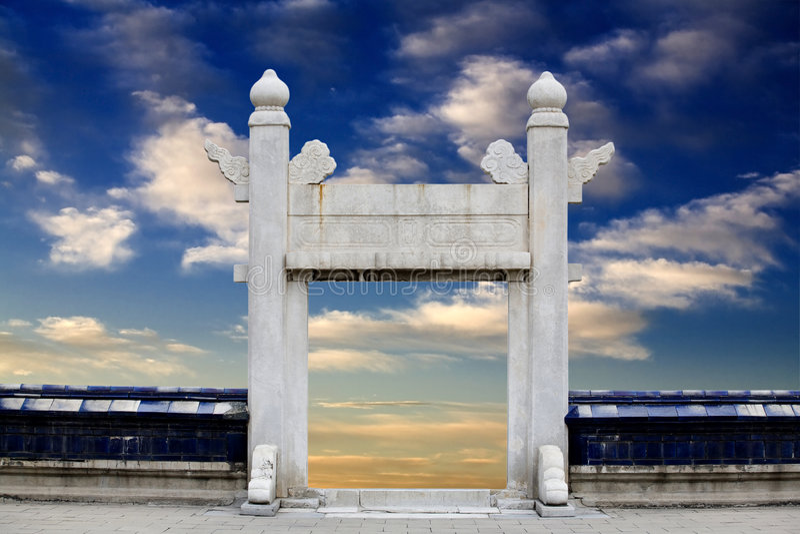 brama kamień zdjęcie royalty free