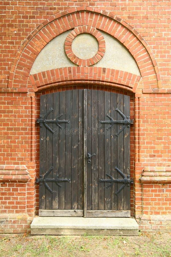 Brama kaplica na cmentarzu w Gristow, Mecklenburg-Vorpommern, Niemcy fotografia stock