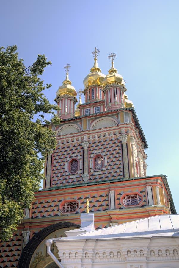 Brama kościół St John Baptystyczny Świętej trójcy St Sergius Lavra fotografia royalty free
