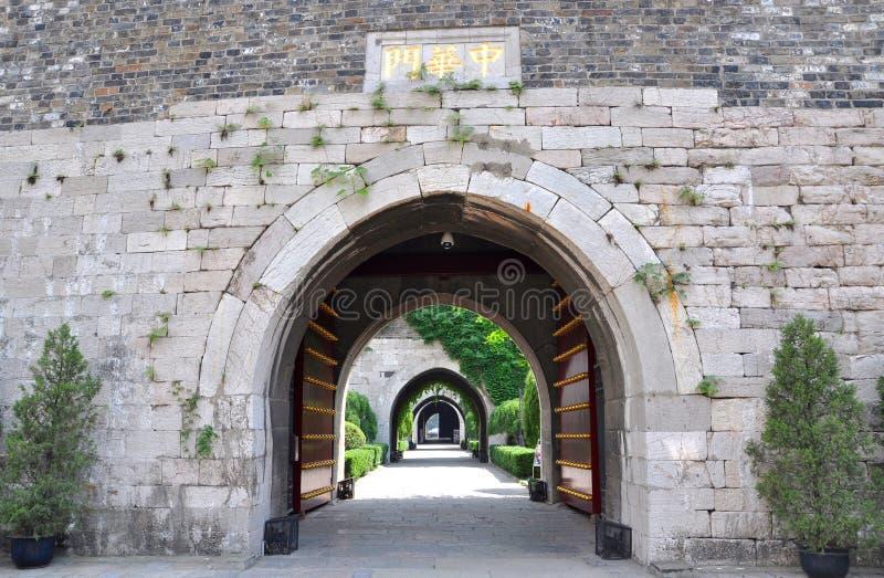Download Brama Nanjing Zhonghua obraz stock. Obraz złożonej z budynek - 25615017