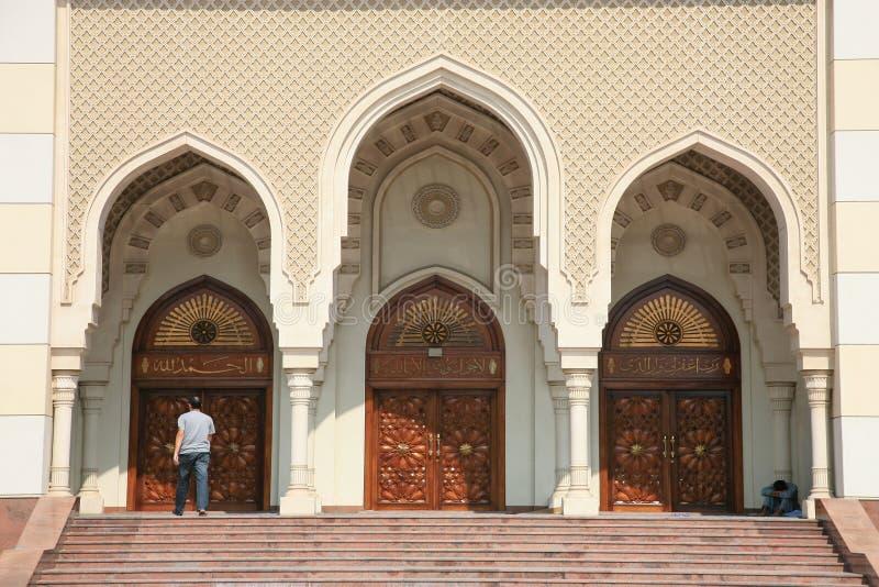 brama nowoczesnego meczetu obrazy stock