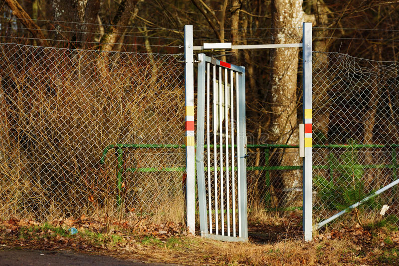 brama otwarta obraz stock