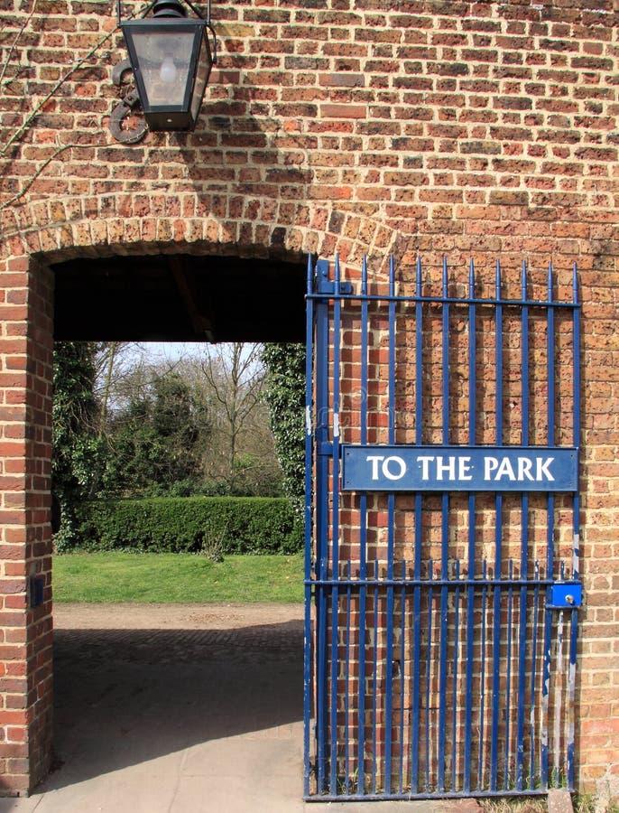 brama park fotografia stock