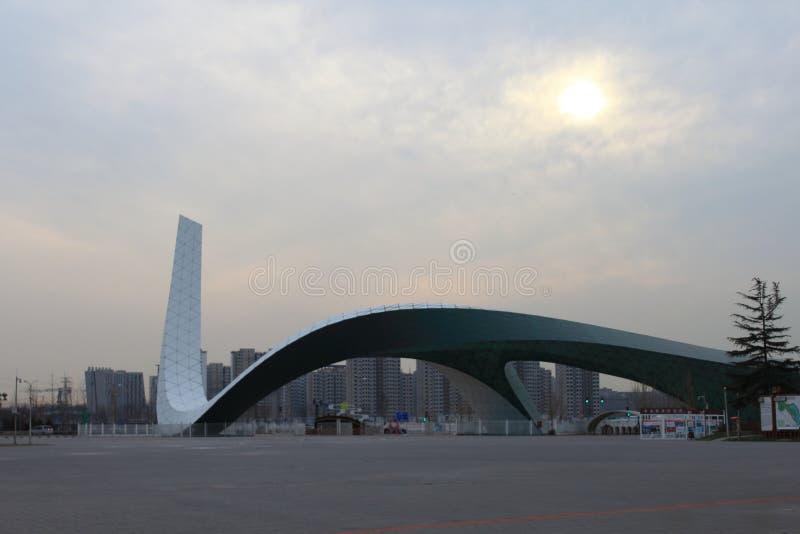 Brama Pekin ogródu expo park zdjęcia stock