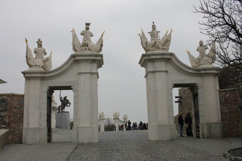 Brama przy Bratislava kasztelem - stolica Sistani obrazy royalty free