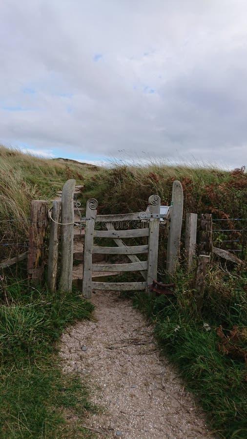 Brama rzeźbiona, Anglesey zdjęcia stock