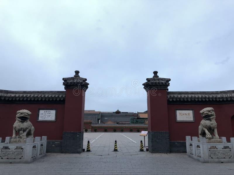 Brama Shenyang pałac muzeum, Chiny fotografia stock
