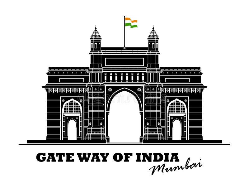Brama sposób India ilustracja wektor