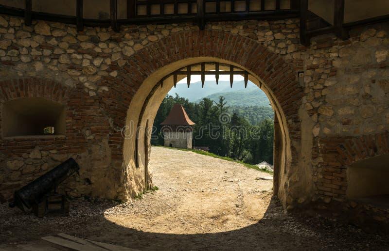 Brama stary defensywny forteca średniowieczna architektury fotografia royalty free