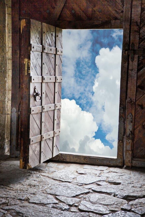 Brama w ruinach antyczny kasztel obrazy royalty free