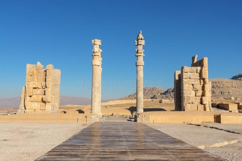 Brama Wszystkie narody w Persepolis zdjęcie royalty free