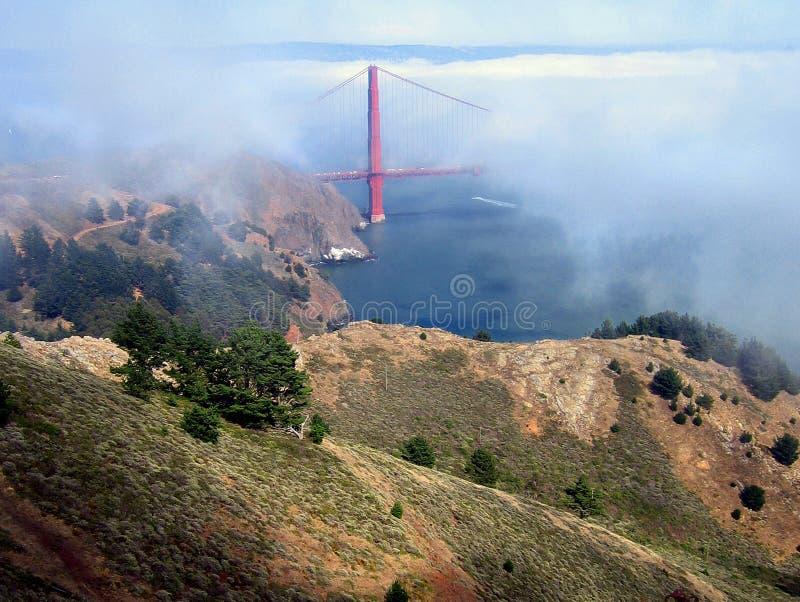 brama złoty mgły bridge obrazy stock