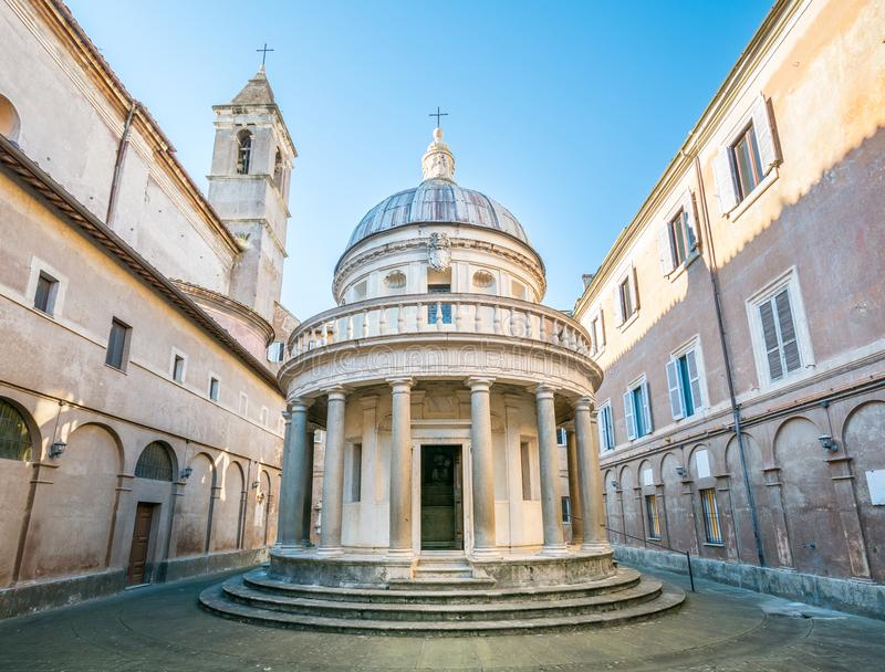 Bramante ` s Tempietto, San Pietro i Montorio, Rome royaltyfria foton