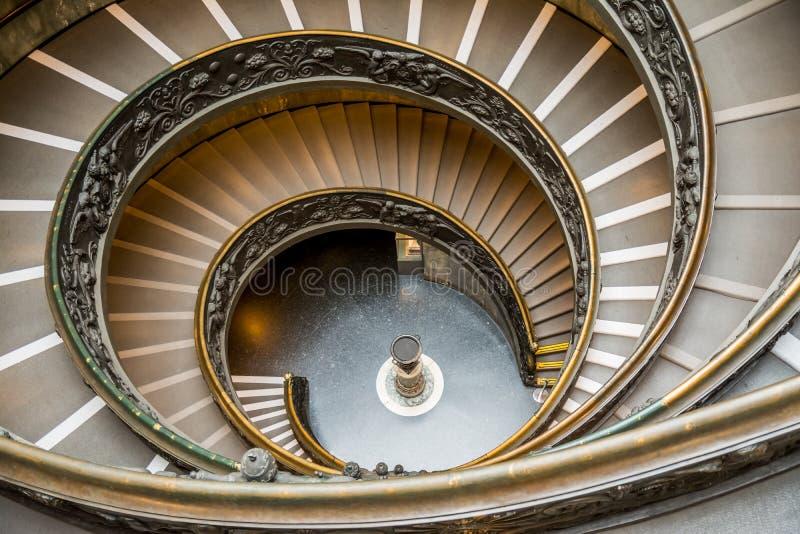 Bramantetreden bij het museum van Vatikaan, Rome royalty-vrije stock foto's