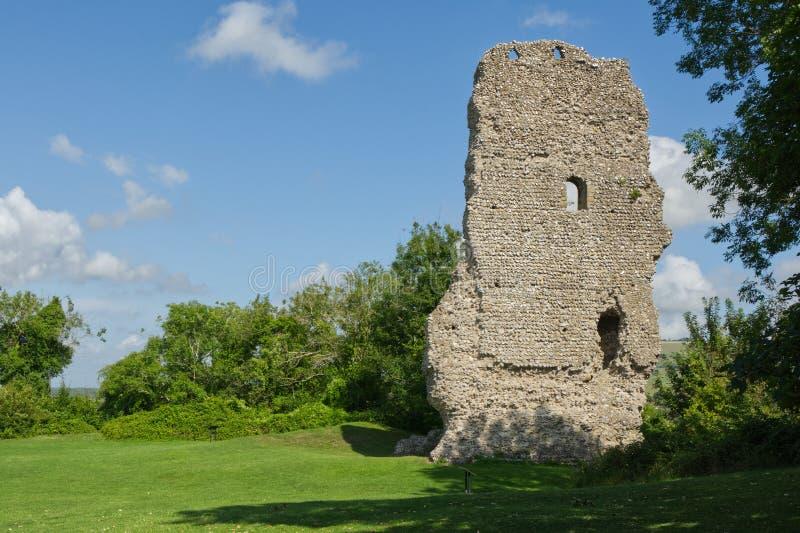 Bramber Castle, West Sussex, England arkivfoton