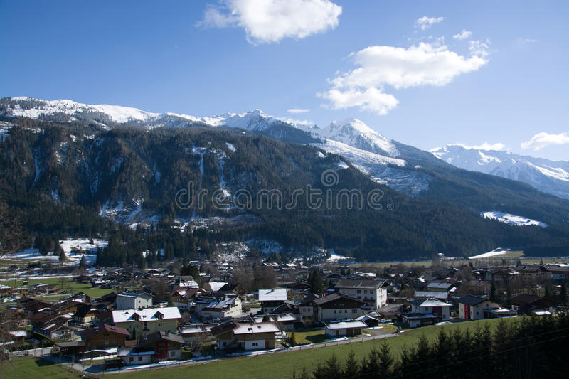 Bramberg, Pinzgau,奥地利 库存照片