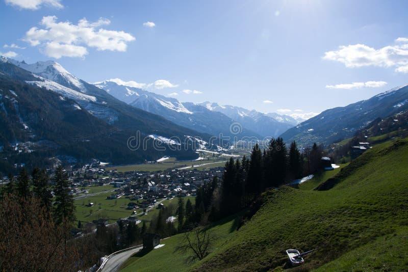 Bramberg, Pinzgau,奥地利 图库摄影