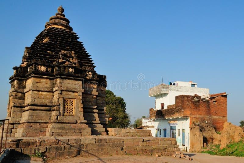 Bramhatempel - Khajuraho royalty-vrije stock afbeelding