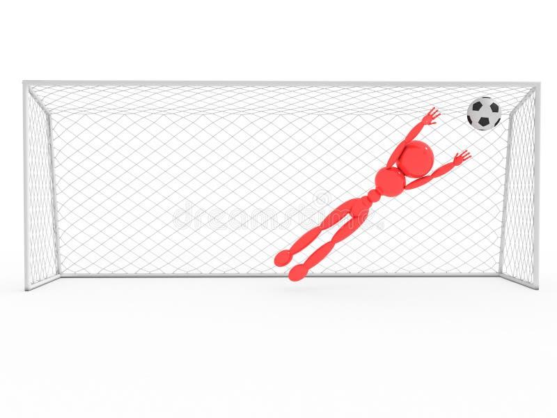 Bramkarz łapie piłki nożnej piłkę -2 ilustracja wektor