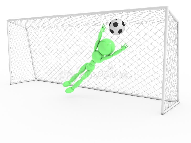 Bramkarz łapie piłki nożnej piłkę -3 ilustracji
