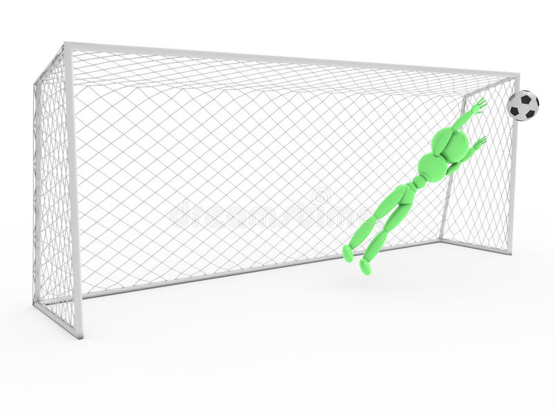 Bramkarz łapie piłki nożnej piłkę -1 royalty ilustracja