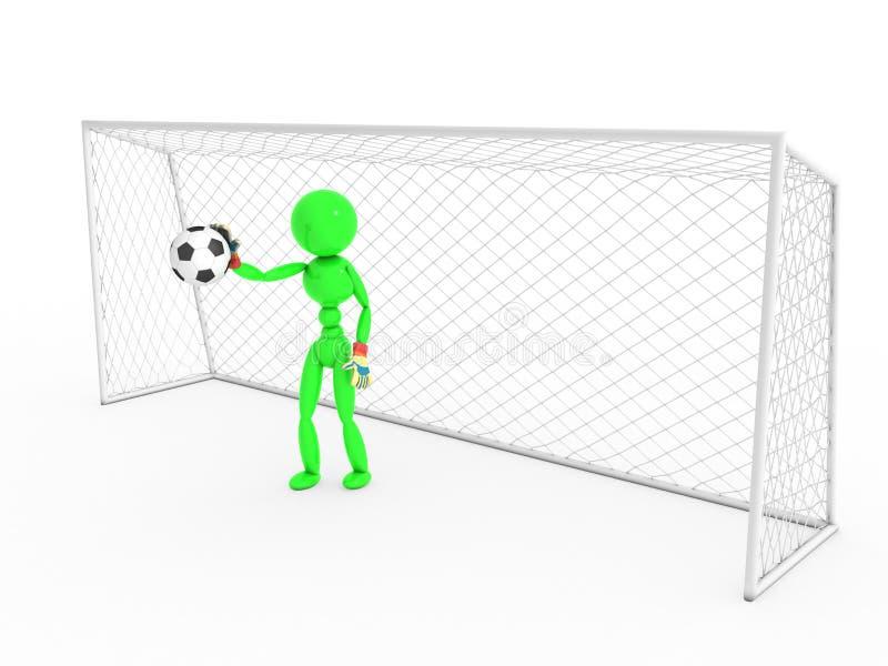 Bramkarz łapie piłki nożnej piłkę -2 royalty ilustracja