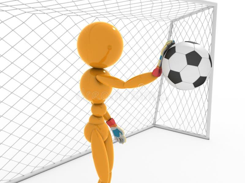 Bramkarz łapie piłki nożnej piłkę -1 ilustracja wektor