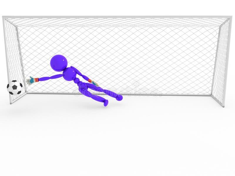 Bramkarz łapie piłki nożnej piłkę -5 ilustracja wektor