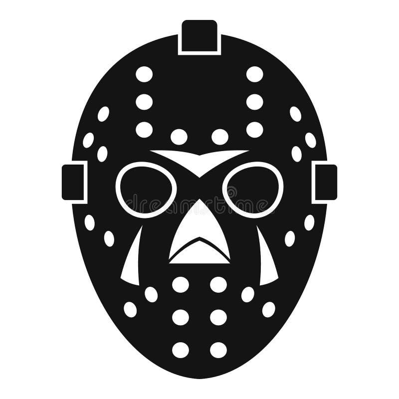 Bramkarz maskowa ikona, prosty styl ilustracja wektor