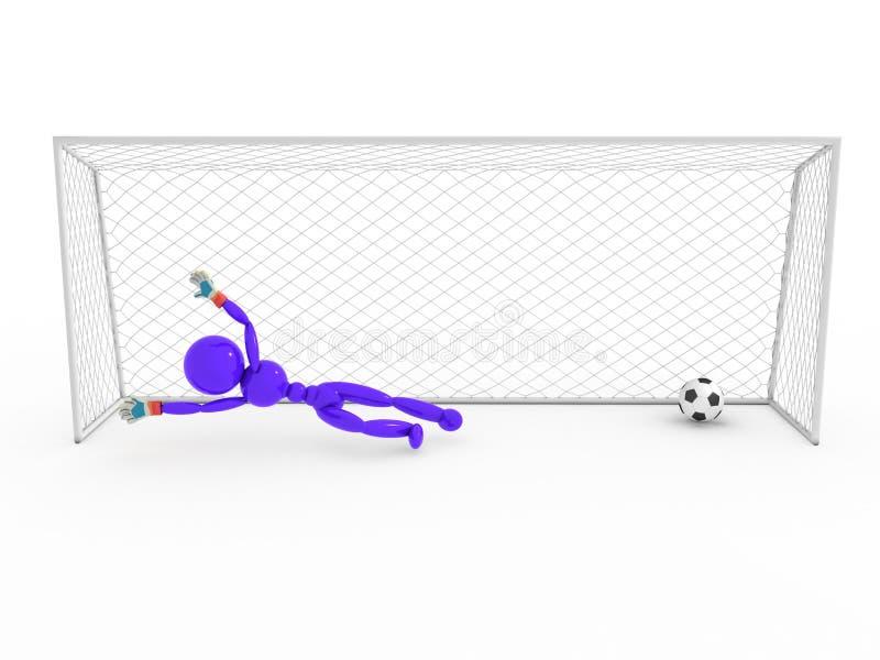 Bramkarz nie łapie piłki nożnej piłkę -2 ilustracji
