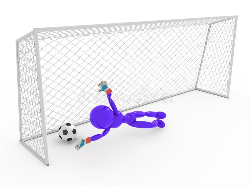 Bramkarz nie łapie piłki nożnej piłkę -1 ilustracji