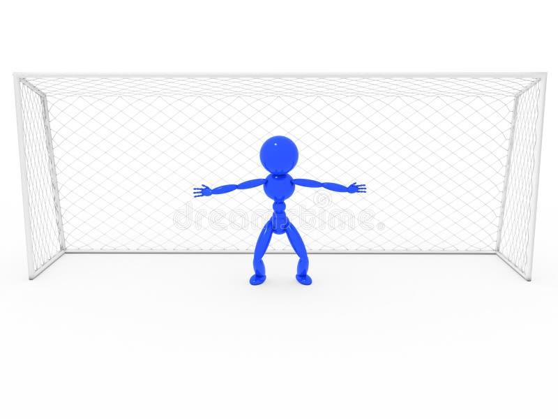 Bramkarz przy bramą -1 ilustracji